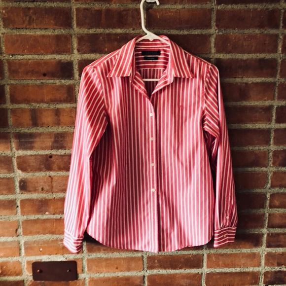 92d907ebf1a31 Ralph Lauren Tops - Ralph Lauren Pink Pin-Stripe No-Iron Shirt